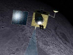 Satelit India Memburu Es di Kawah Bulan